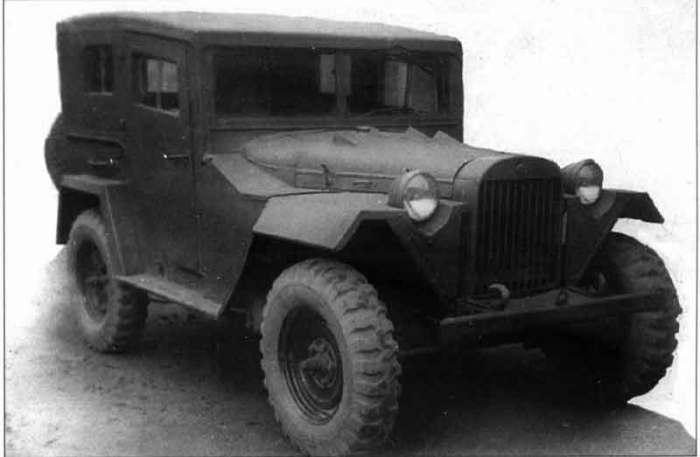 Корпус у ГАЗ 67-420 был из дерева.