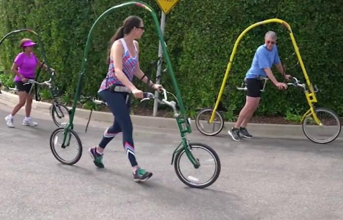 Необычный велосипед для бега.