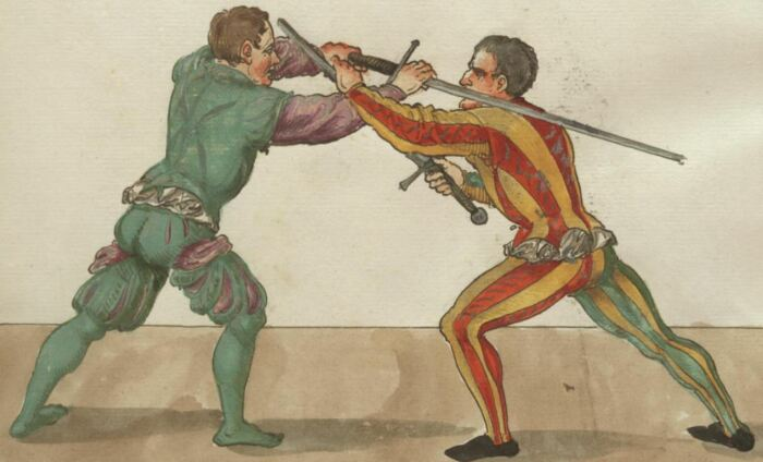 Было придумано огромное количество приемов борьбы с хватом в том числе за лезвие меча. /Фото: premudrosti.in.