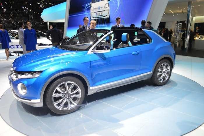 Выглядит VW T-Roc очень изящно.