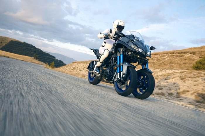 Такого безопасного среза поворотов, как у Yamaha Niken еще не было.