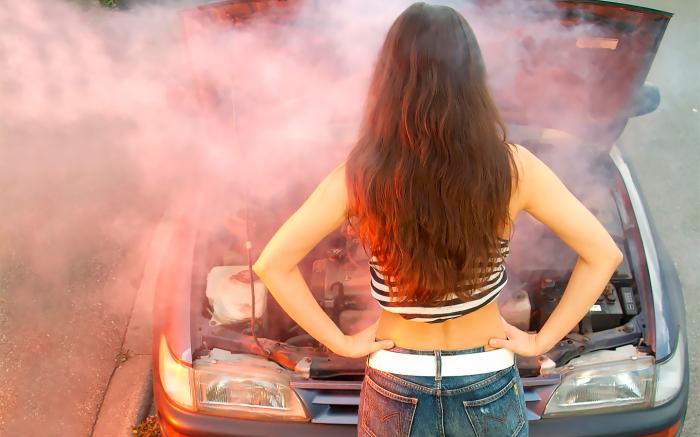 Машина может легко перегреться. /Фото: vitbichi.by.