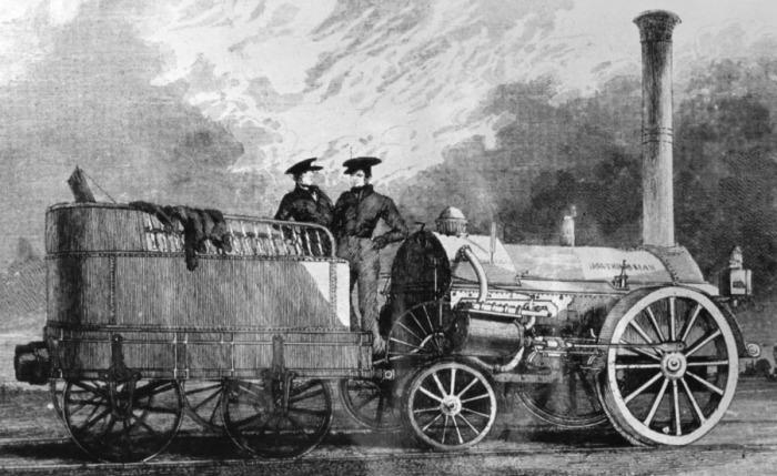 Первая железная дорога появилась в Англии. /Фото: livejournal.com.