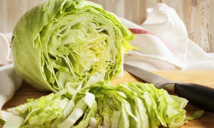 Салат айсберг - вкусный и полезный.