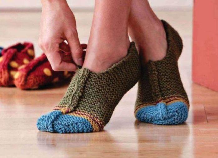 В носочках дома фантастически уютно