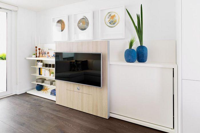 Панель с телевизором.