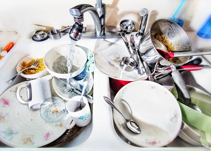 Не накапливайте посуду в раковине.