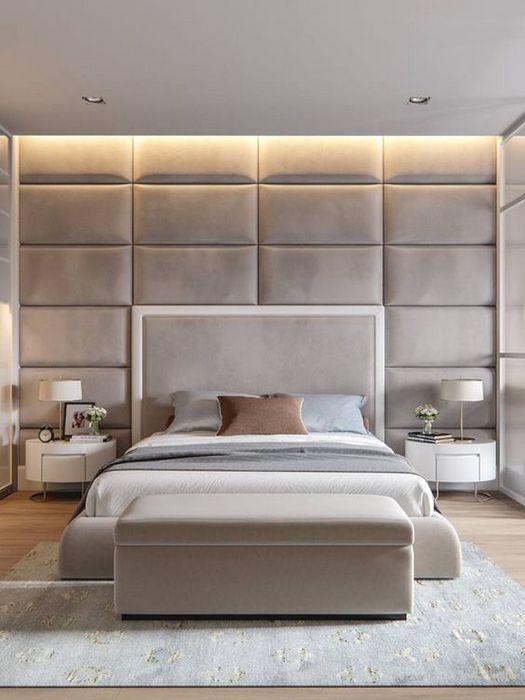 Удачное расположение кровати в спальне.
