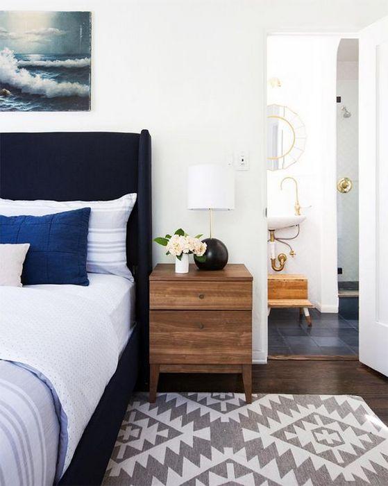 Стильный интерьер спальни.