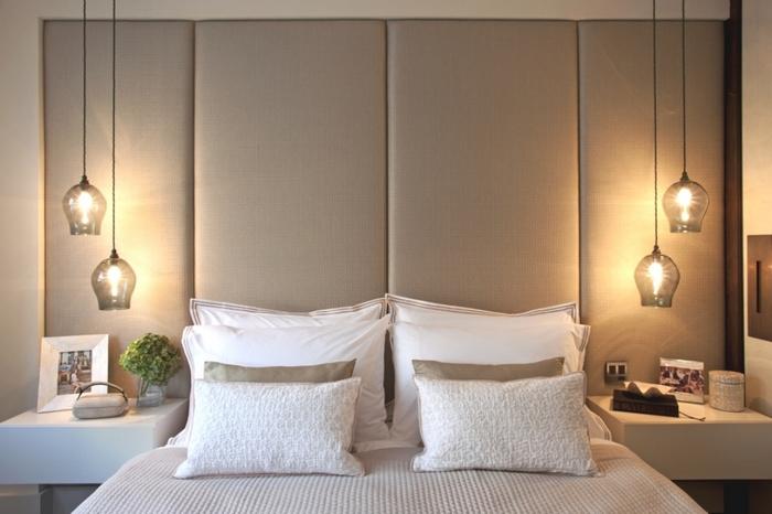 Пример гармоничного решения с освещением в спальне.