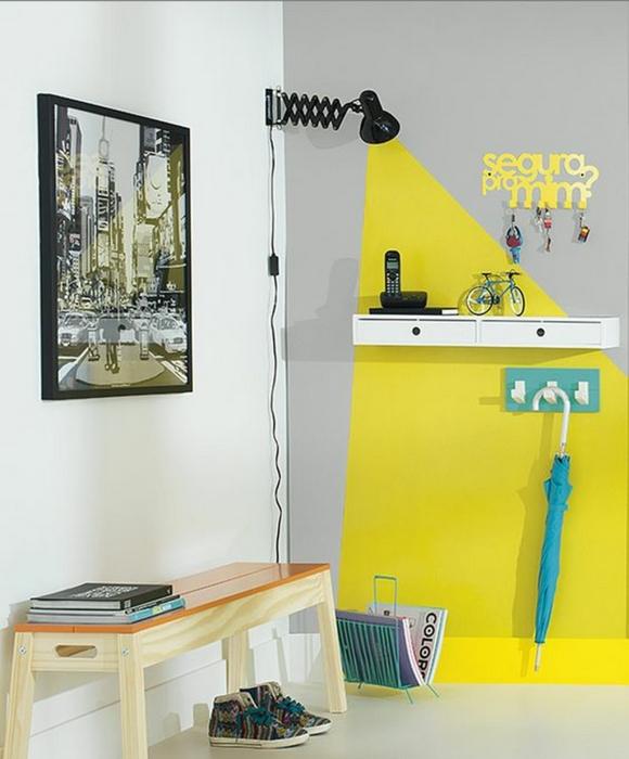 Креативное окрашивание стен.