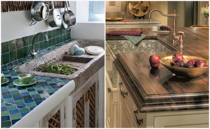 Обзор материалов для кухонной столешницы.