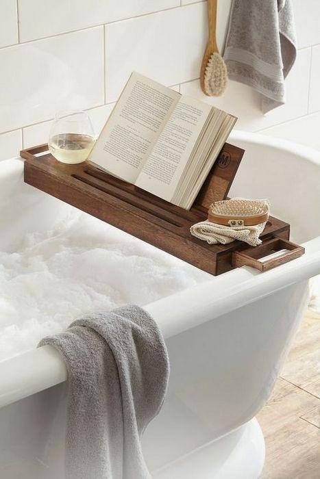 Место для релакса в ванной комнате.