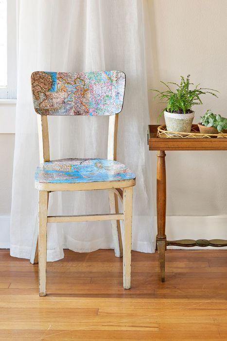 Новое «лицо» старого стула.