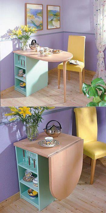 Удобный складной стол.