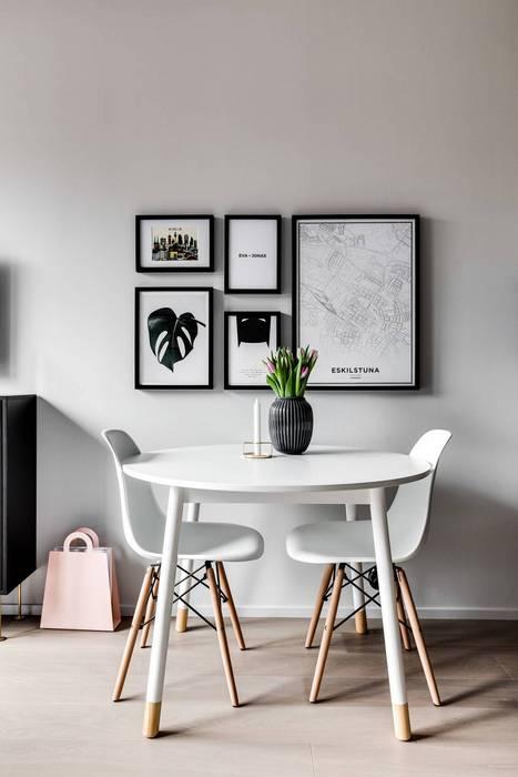 Зона столовой в квартире-студии.