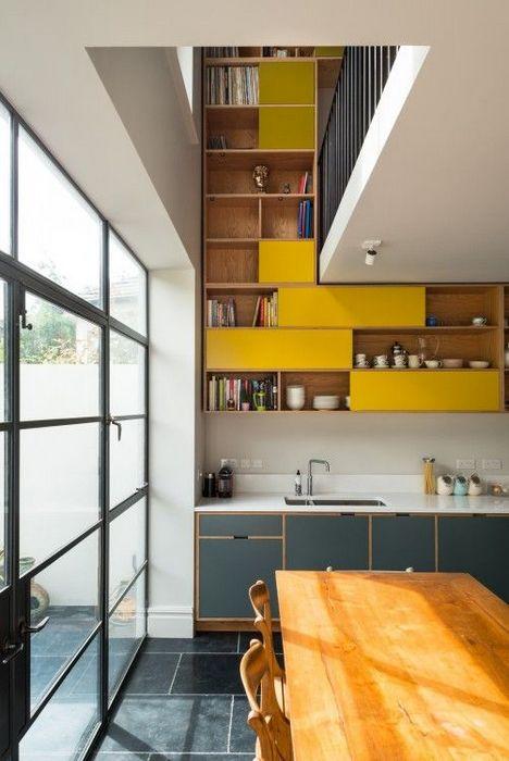Польза от высоких потолков на кухне.