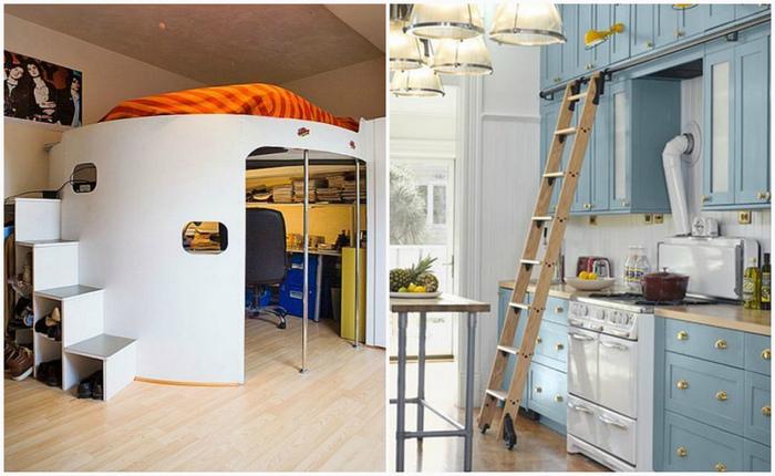Как обустроить высокие потолки: функциональное применение.