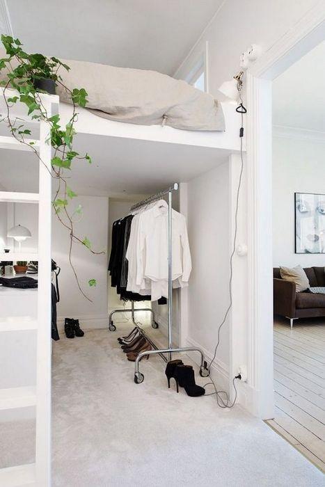 Пример оформления спального места на втором уровне.