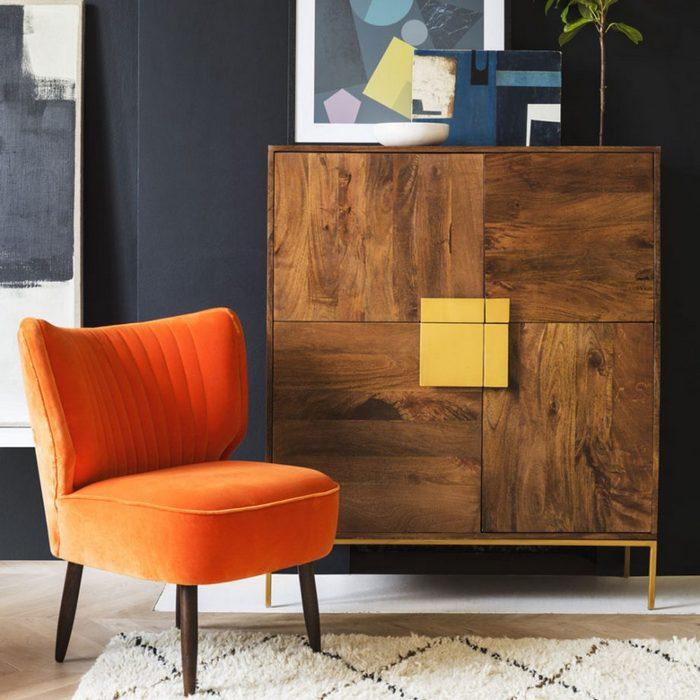 Мебель в стиле ретро-гламур.