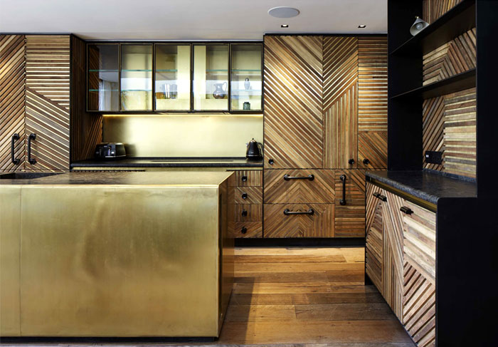 Стильное оформление кухни.
