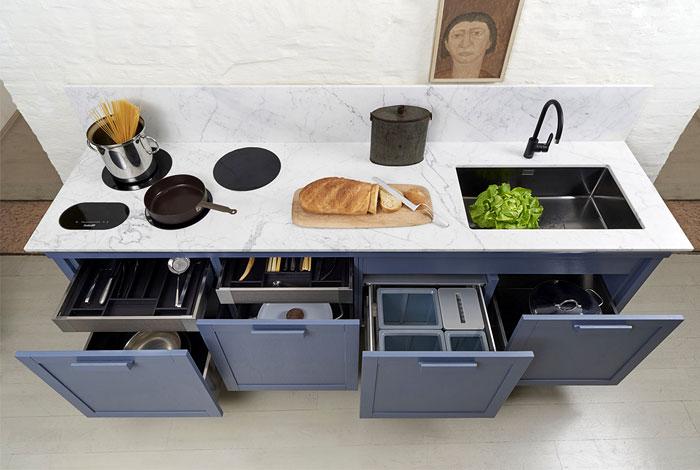Практичные кухонные шкафы в моде.