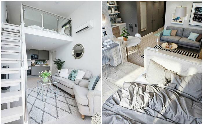 Где найти место для кровати в квартире-студии?