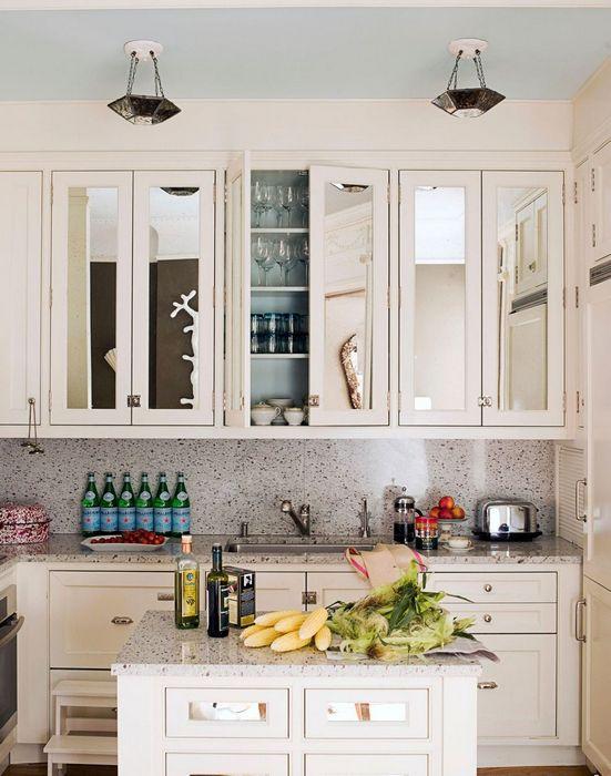 Зеркала на кухне.