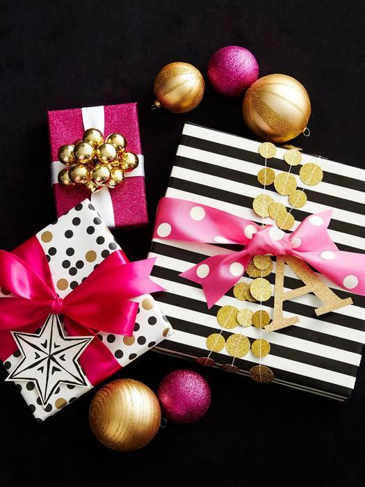 Стильное оформление новогодних подарков.