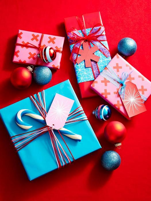 Красивые новогодние подарки.