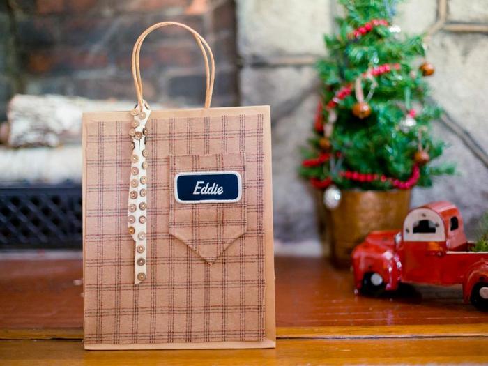 Стильный подарочный пакет своими руками.