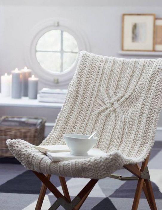 Кресло в скандинавском стиле.