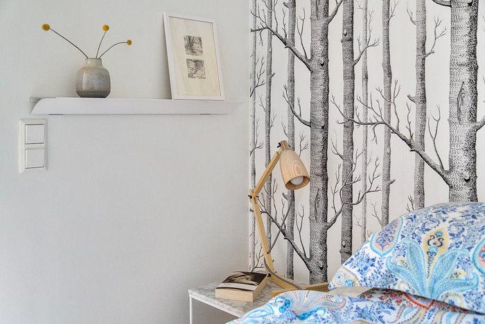 Стильные элементы в интерьере спальни.