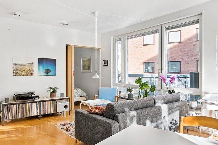Интерьер квартиры в ретро-стиле.