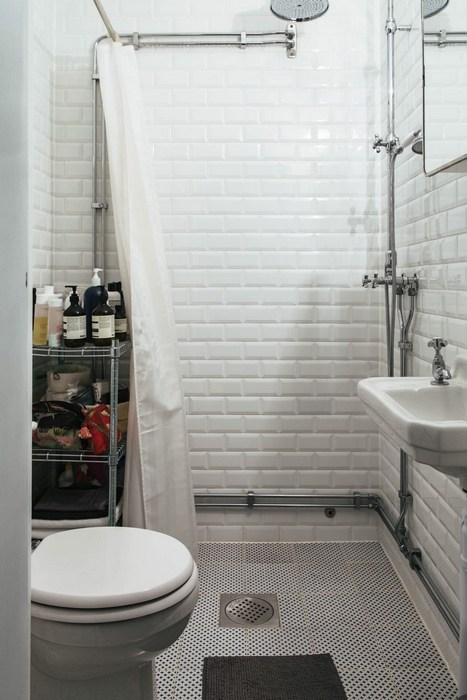 Интерьер ванной комнаты.