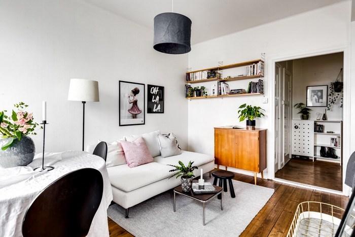 Стильный ретро-интерьер маленькой квартиры.