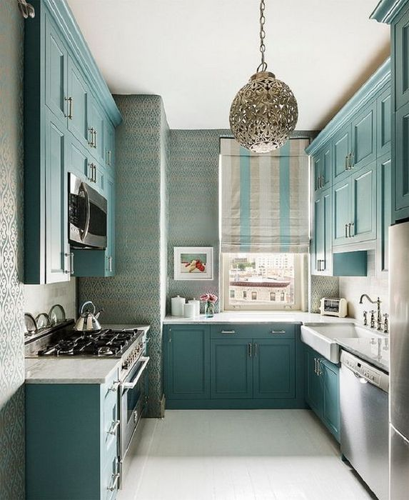 Красивый и стильный интерьер кухни.