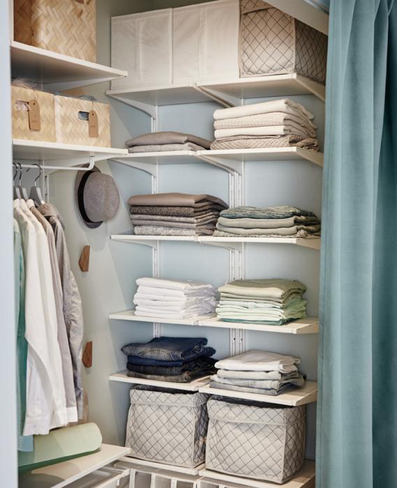 Организуйте аккуратное хранение вещей.