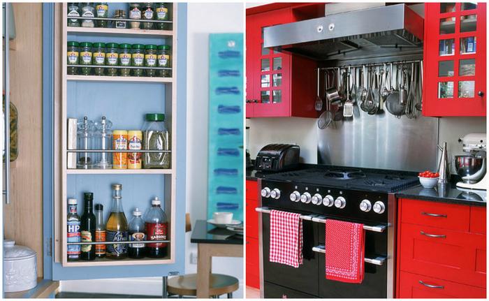 Практичные идеи, которые сделают удобной даже крошечную кухню.