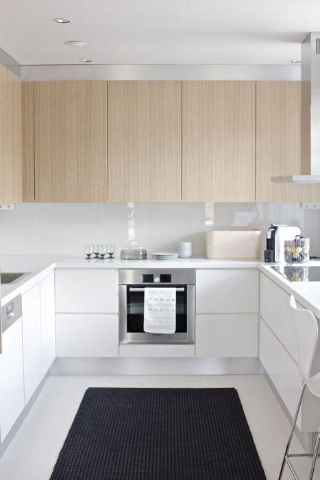 Стильный интерьер маленькой кухни.