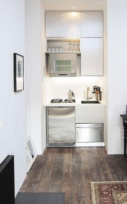 Очень маленькая кухня.