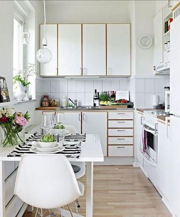 Пример оформления кухни в скандинавском стиле.