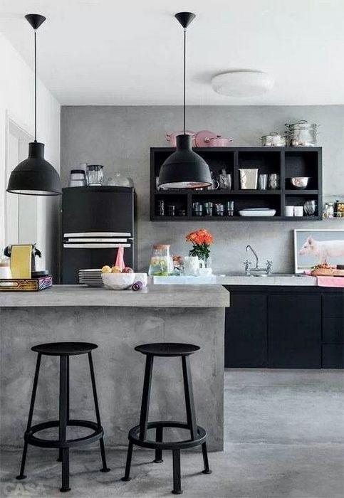 Стильная кухня в стиле лофт.