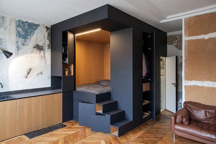 Спальня в кубе.