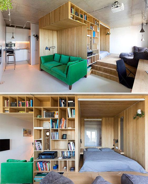 Под потолком: ещё один вариант использовать маленькую площадь с пользой.
