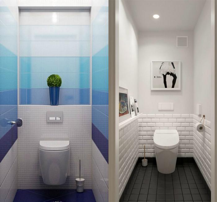 Сделаем туалет стальной комнатой.