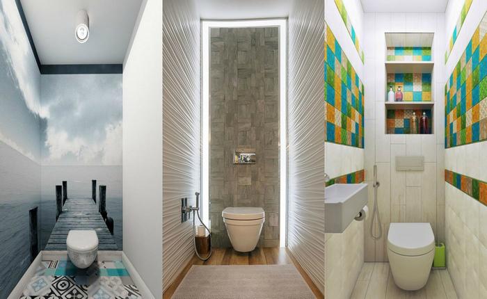 Обман зрения: 20 шикарных примеров того, как визуально увеличить маленький туалет .