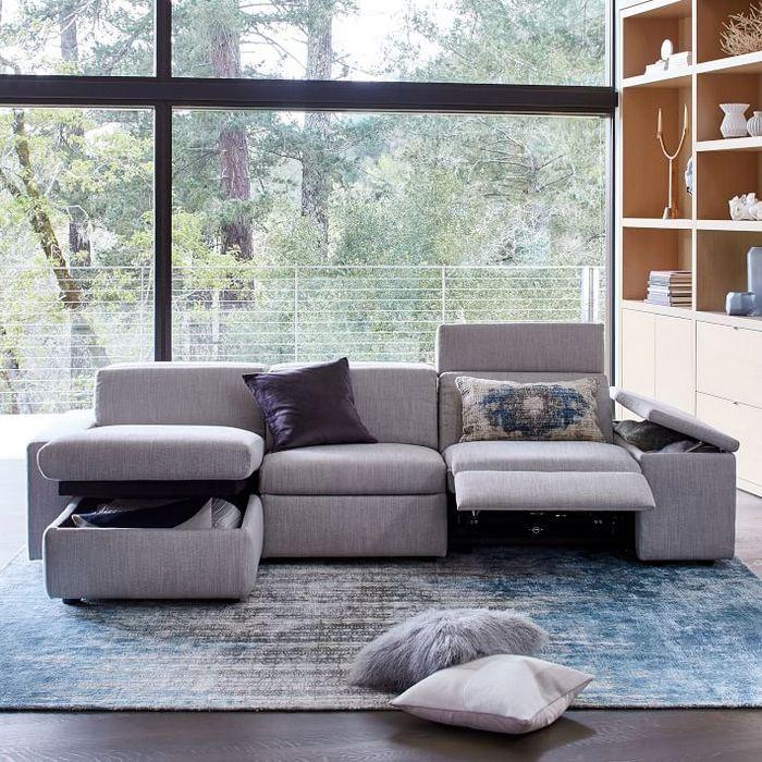 Выбирайте диван с дополнительными системами хранения.