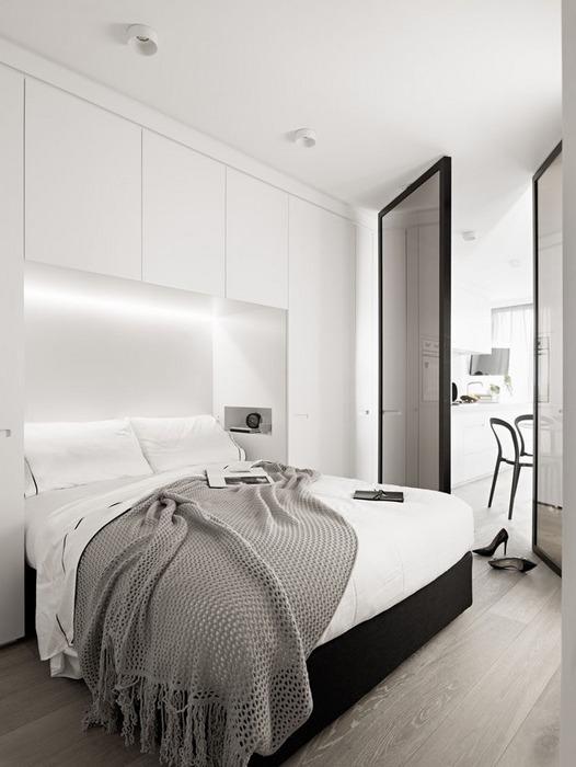 Стильная маленькая спальня.
