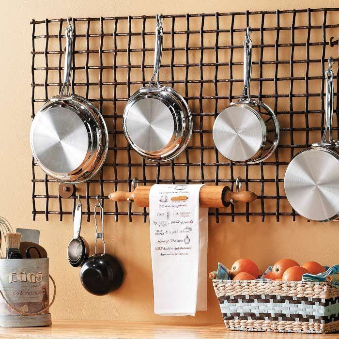 Стильное хранение на кухне.
